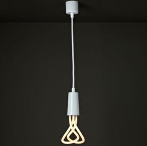 Lampa pendant E27 PLUMEN 11w -  set ( alb ) 2