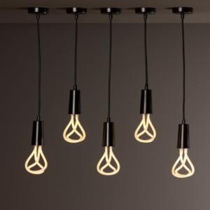 Lampa pendant E27 PLUMEN 11w -  set ( negru ) 2